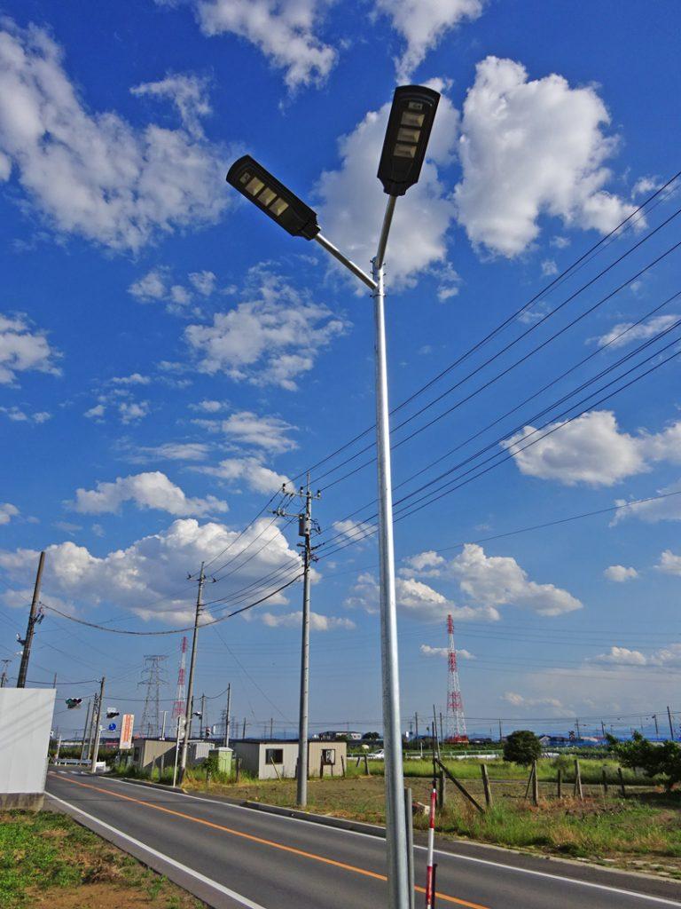 ソーラーLED外灯設置例